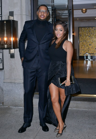 lala-and-carmelo-anthony-couple-new-black-skirt-hi-low